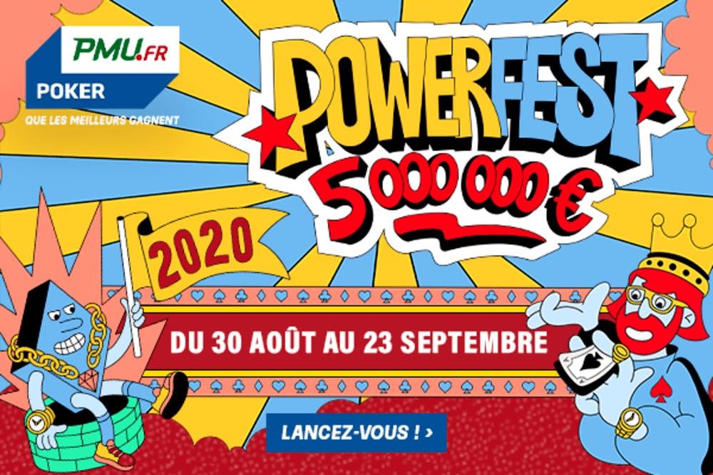 Top départ pour le festival PowerFest de PMU Poker et ses 5.000.000€ garantis !