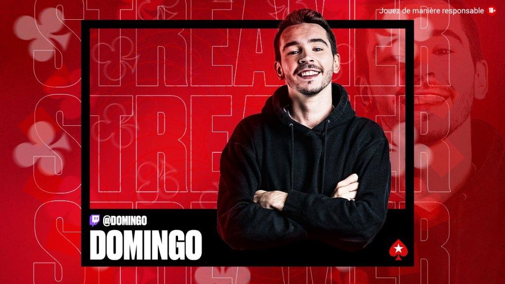 Le streamer Domingo rejoint PokerStars