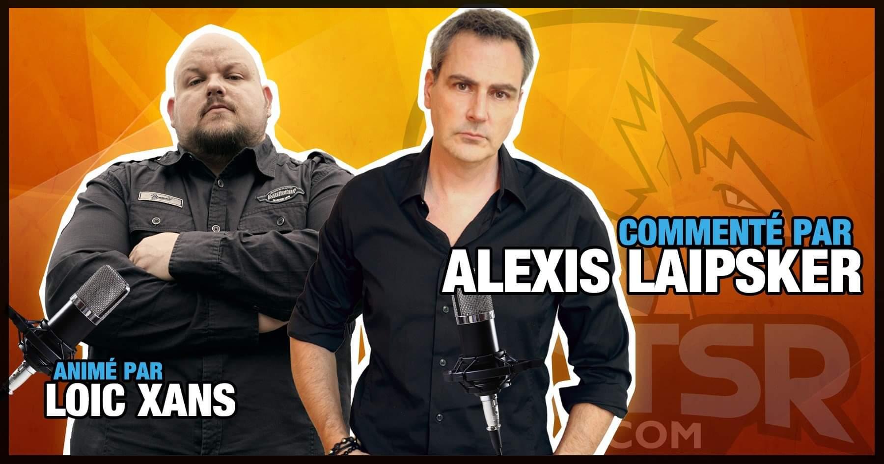 Alexis Laipsker et Loïc Xans aux commentaires sur la chaîne Twitch de Nuts'R !