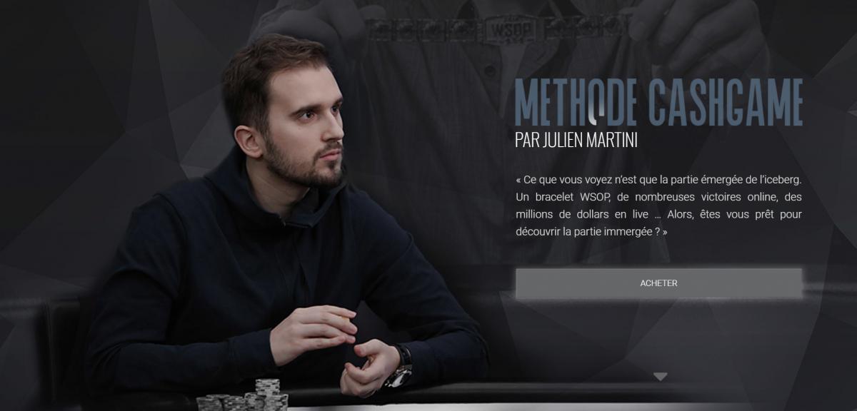 Julien Martini lance sa MasterClass dédiée au Cash Game