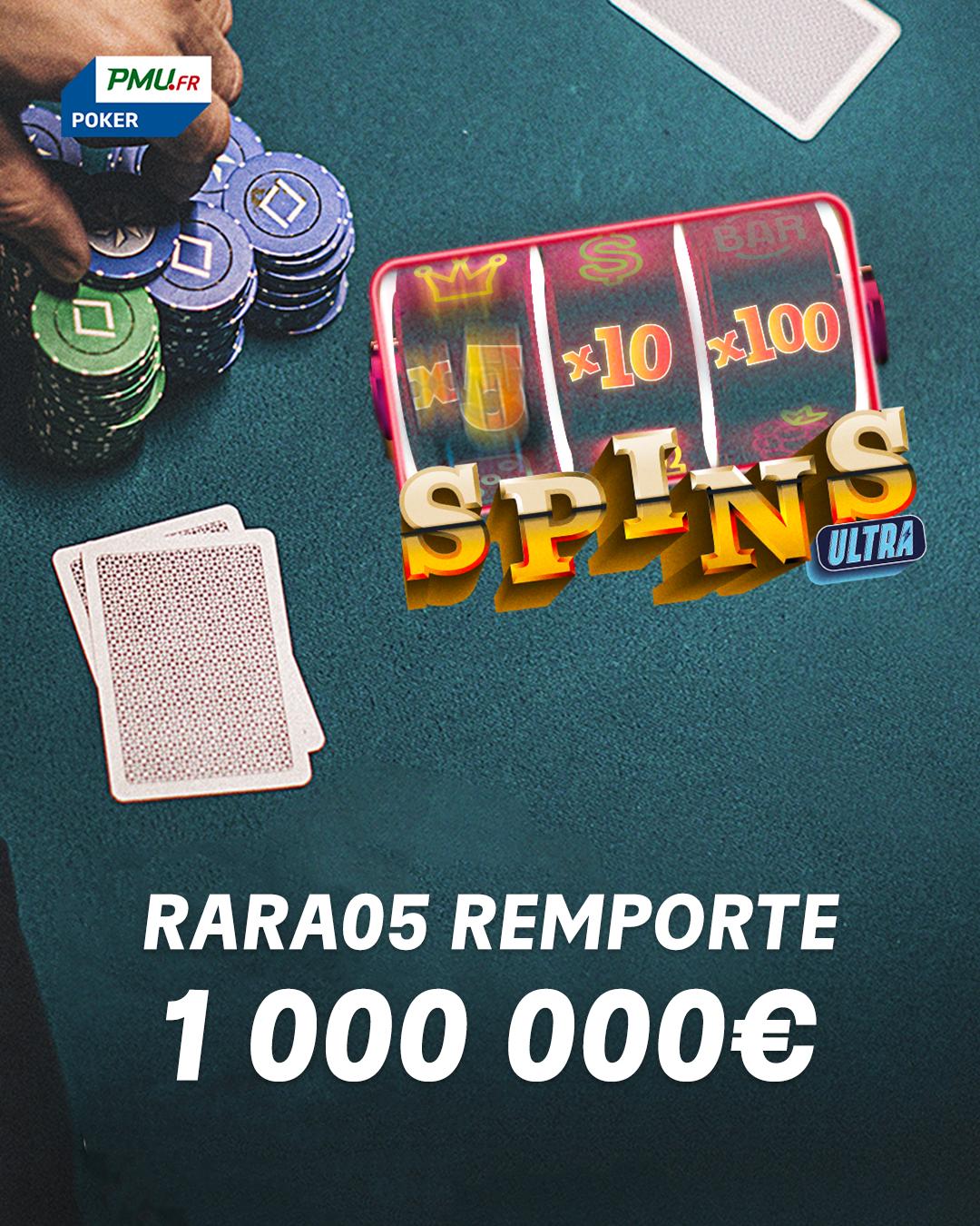 Une joueuse remporte 1 million d'euros sur PMU Poker